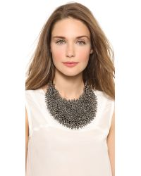 Vera Wang Collection | Black Spiky Necklace Hematite | Lyst