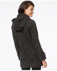 Jones New York | Gray Hooded Coat | Lyst