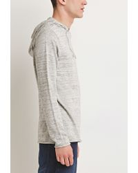 Forever 21   Natural Marled Knit Hoodie for Men   Lyst
