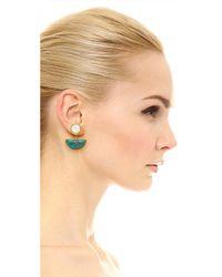 Lizzie Fortunato - Blue Geometry Surf Earrings - Lyst