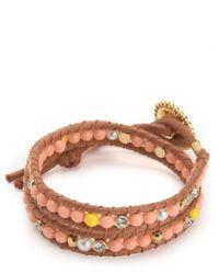 Juicy Couture   Multicolor Double Wrap Beaded Bracelet   Lyst