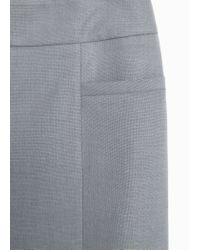 Mango | Gray Flared Long Skirt | Lyst