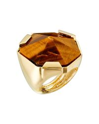 Vince Camuto | Metallic Adjustable Tigers Eye Stone Ring | Lyst