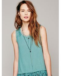 Free People | Blue Serefina Womens Vintage Deco Heart Rosary | Lyst