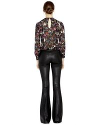 Alice + Olivia - Brown Angeline Pintuck Blouse - Lyst