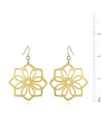 Wendy Mink | Metallic Flower Cutout Earrings, Gold | Lyst