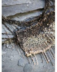 Free People   Gray Dip Dye Crochet Chain Necklace   Lyst