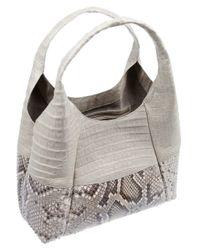 Nancy Gonzalez - Metallic Glossed Crocodile and Python Shoulder Bag - Lyst