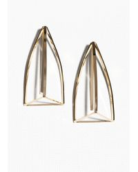 & Other Stories | Metallic Structural Cage Back Drop Earrings | Lyst