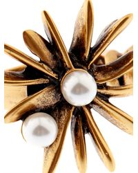 Oscar de la Renta | Metallic Starburst Faux-Pearl And Gold-Plated Ring | Lyst