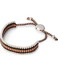 Links of London | Brown Friendship Bracelet Black And Copper - For Women | Lyst