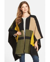 Vince Camuto - Green Blanket Jacquard Poncho - Lyst
