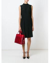 Dolce & Gabbana - Red Python Skin Panel Tote - Lyst