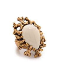 Oscar de la Renta | Metallic Coral Branch Ring - Ivory | Lyst