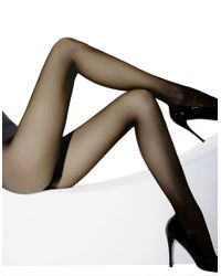 Wolford | Black Individual Semi-Sheer Tights | Lyst