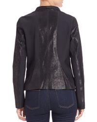 Elie Tahari - Black Carmen Asymmetrical Leather Jacket - Lyst