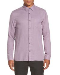 Vince | Purple 'melrose' Trim Fit Straight Hem Sport Shirt for Men | Lyst