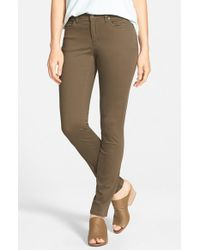 Eileen Fisher | Green Organic Cotton Sateen Skinny Jeans | Lyst