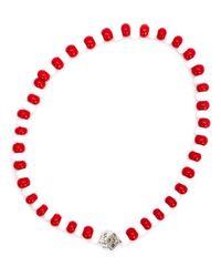 Luis Morais | White Mini Dice Beaded Bracelet | Lyst