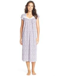 Eileen West - Purple 'berry Patch' Print Cotton Blend Ballet Nightgown - Lyst