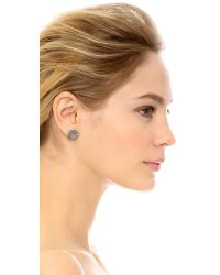 House of Harlow 1960 - Metallic Tholos Mosaic Stud Earrings - Silver - Lyst