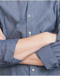 Zara   Blue Striped Shirt for Men   Lyst