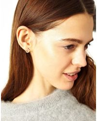 ASOS - Metallic Limited Edition Circle Stud Earrings - Lyst