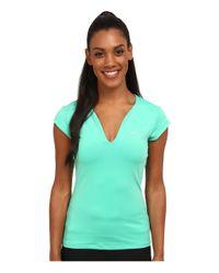 Nike - Green Pure Tennis Top - Lyst