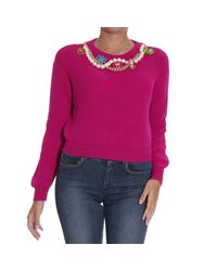 Boutique Moschino | Purple Sweater | Lyst
