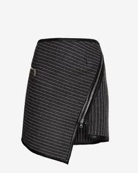 Jonathan Simkhai - Black Wrap Zip Miniskirt - Lyst