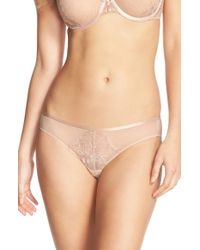 Natori | Natural Chantilly Lace Hipster Bikini | Lyst