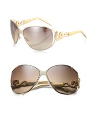 Roberto Cavalli | Bellatrix Swarovski Crystal Serpent Sunglasses | Lyst