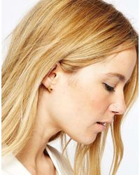 Pieces | Metallic & Julie Sandlau 22ct Gold Plated Jill Feather Earrings | Lyst