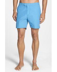 Psycho Bunny - Blue Solid Swim Shorts for Men - Lyst