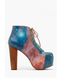 Nasty Gal | Multicolor Lita Platform Boot - Cosmic | Lyst