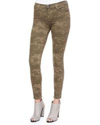 J Brand - Green Mid-rise Skinny Jeans - Lyst