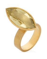 Ilene Steele Jewellery | Metallic Medium Marina Ring Lemon Quartz | Lyst