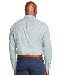 Polo Ralph Lauren | Green Big And Tall Checked Twill Shirt for Men | Lyst
