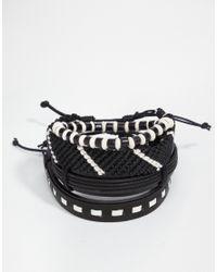ASOS - Bracelet Pack In Black And White for Men - Lyst