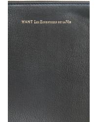 Want Les Essentiels De La Vie - Black Barajas Folio Bag for Men - Lyst