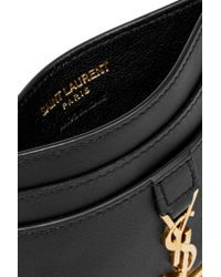 Saint Laurent - Black Monogramme Leather Cardholder - Lyst