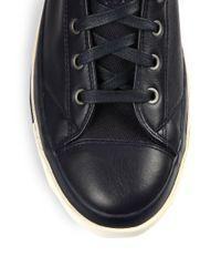 DIESEL - Blue Exposure Leather High-top Sneakers for Men - Lyst