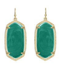 Kendra Scott | Green Elle Earrings | Lyst