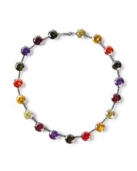 Bottega Veneta - Multicolor Embellished Crystal Necklace - Lyst