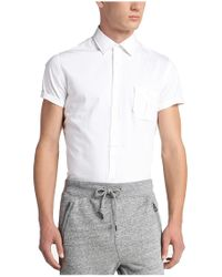 BOSS Orange - White Slim-fit Short-sleeved Shirt In Cotton: 'eslimye' for Men - Lyst