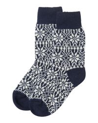 Toast | White Iceland Merino House Socks | Lyst