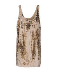 INTROPIA - Metallic Short Dress - Lyst