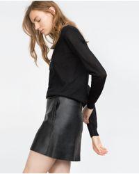 Zara | Black Extra Fine Cashmere Sweater | Lyst