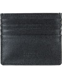 Barneys New York - Black Saffiano-leather Credit Card Case for Men - Lyst