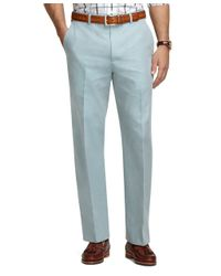 Brooks Brothers - Green Madison Fit Americana Plain-front Dress Trousers for Men - Lyst
